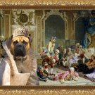 Bullmastiff Fine Art Canvas Print - The queen and and her fools