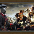 Cane Corso Fine Art Canvas Print - La Bataille de La Marsaille