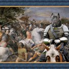 Cane Corso Fine Art Canvas Print - In the middle of the battle