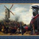 Cane Corso Fine Art Canvas Print - Battle by the Windmill