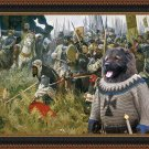 Caucasian Shepherd Dog Fine Art Canvas Print - Russian pride and glory