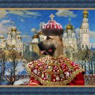 Central Asian Shepherd Dog Fine Art Canvas Print - Empress with Golden Church