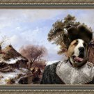 Central Asian Shepherd Dog Fine Art Canvas Print - Scaters on canal