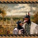 Dobermann Fine Art Canvas Print - The fair and couple