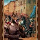 Dobermann Fine Art Canvas Print - Entree de Charles VIII dans Florence