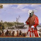 Dogo Argentino Fine Art Canvas Print - Gathering before the battle