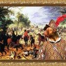 Dogue de Bordeaux Fine Art Canvas Print - The fight of the cavalery