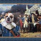 English Bulldog Fine Art Canvas Print - The battle Plan