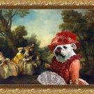 English Bulldog Fine Art Canvas Print - Concert in the Park