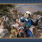 English Bulldog Fine Art Canvas Print - The sword and glory