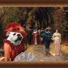 English Bulldog Fine Art Canvas Print - Left Mistress