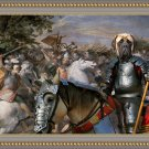 English Mastif Fine Art Canvas Print - In the middle of the battle