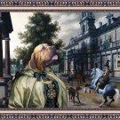 Fila Brasileiro Fine Art Canvas Print - Respected Lady in a Palace Garden