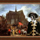 German Boxer Fine Art Canvas Print - Waiting for the statue of Mary