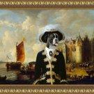 German Boxer Fine Art Canvas Print - Castle on a River Bank