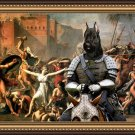 Giant Schnauzer Fine Art Canvas Print - Abduction of Sabine Women