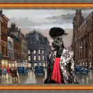 Giant Schnauzer Fine Art Canvas Print - Charleston Blues