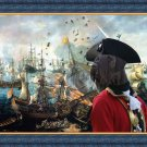 Giant Schnauzer Fine Art Canvas Print - Battle of Gibraltar