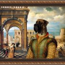 Great Dane Fine Art Canvas Print - The promenade in castle