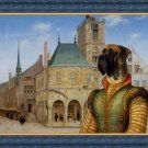 Great Dane Fine Art Canvas Print - Plotting against the rival