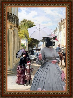 Great Dane Fine Art Canvas Print - Summer Day