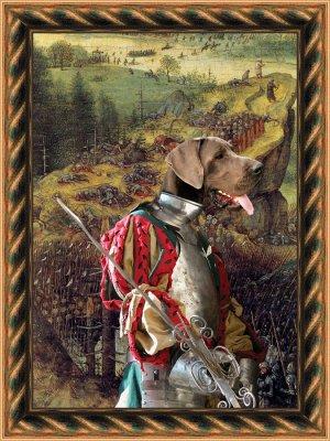 Great Dane Fine Art Canvas Print - The Suicide of Saul