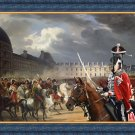 Great Dane Fine Art Canvas Print - Napoleon at the Parade in the Court of the Tuileries Palace