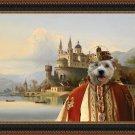 Hollandse Smoushond Fine Art Canvas Print - King and castle