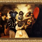 Hovawart Fine Art Canvas Print - Arlequin and Colombine