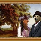 Hovawart Fine Art Canvas Print - The Italy landscape with couple