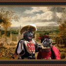 Leonberger Fine Art Canvas Print - Return to village event