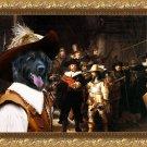 Leonberger Fine Art Canvas Print - The Nightwatch