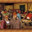 Miniature Pinscher Fine Art Canvas Print - The Wedding banquet