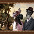 Miniature Schnauzer Fine Art Canvas Print - The Garden Party