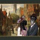 Miniature Schnauzer Fine Art Canvas Print - A Dutch street
