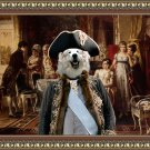 Pyrenean Mountain Dog  Fine Art Canvas Print - Invitation for lunch