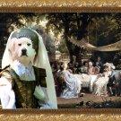 Pyrenean Mountain Dog  Fine Art Canvas Print - Baronessa on garden party