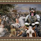 Rottweiler Fine Art Canvas Print - Brave Riccer in battle