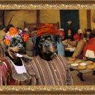 Rottweiler Fine Art Canvas Print - The Wedding banquet