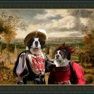 Saint Bernard Fine Art Canvas Print - Happy couple in Fair
