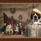 Saint Bernard Fine Art Canvas Print - Several officers smoking in a guardroom