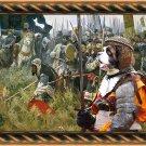 Saint Bernard Fine Art Canvas Print - For glory and land