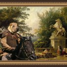 Shar Pei Fine Art Canvas Print - Ruins on the Terrace in Marly Park