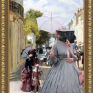 Standard Schnauzer Fine Art Canvas Print - A Summer Day