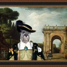 Standard Schnauzer Fine Art Canvas Print - View of the Villa Ludovisi Park in Rome