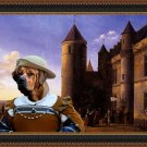 Tosa Fine Art Canvas Print - The rich merchant lady besides the castle