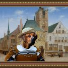 Tosa Fine Art Canvas Print - The rich lady merchant awaiting delivery