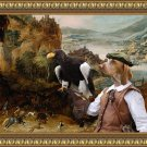Bracco Italiano Fine Art Canvas Print - Entertainment hunters and falconers