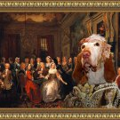 Bracco Italiano Fine Art Canvas Print - An Assembly at Wanstead House