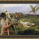 Cesky Fousek Fine Art Canvas Print - After the battle